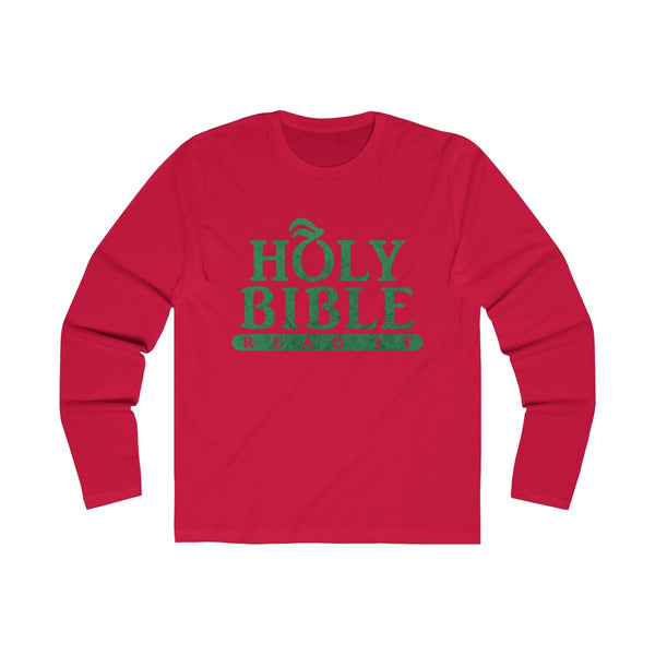 Holy Bible Textured Long Sleeve