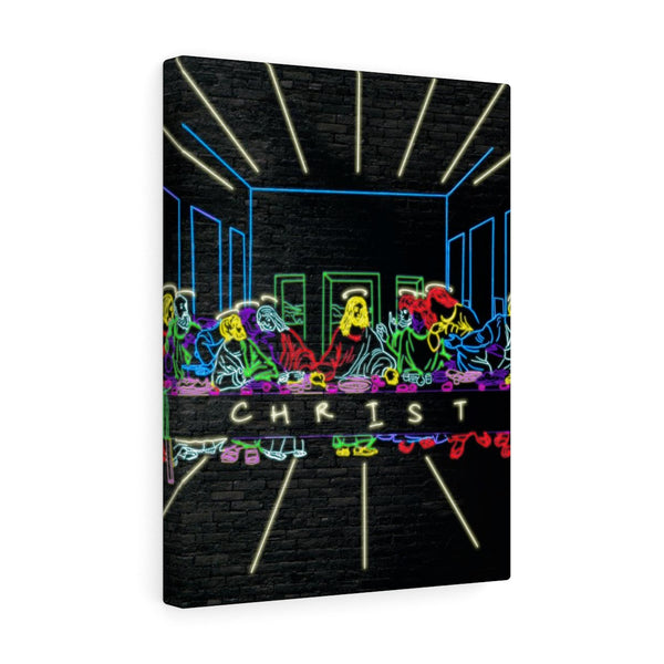 Neon Christ - Portrait Canvas