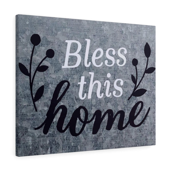 Bless This Home - Landscape Canvas