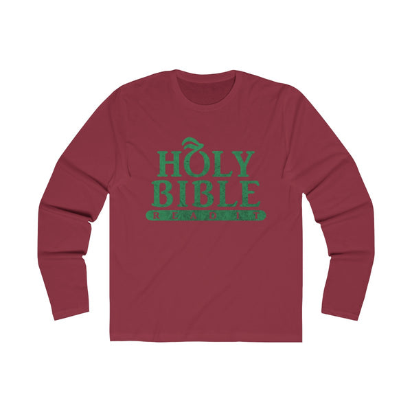 Holy_Bible_Textured Long Sleeve