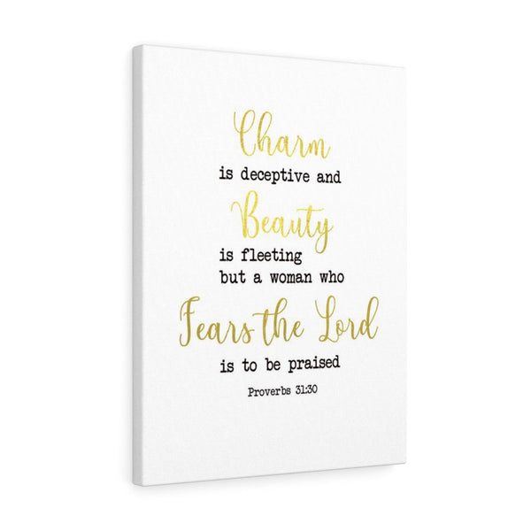 Woman Who Fears The Lord Portrait Wall Canvas