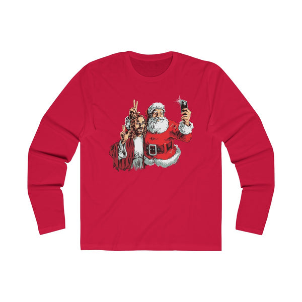 Jesus & Santa - Long Sleeve Shirts