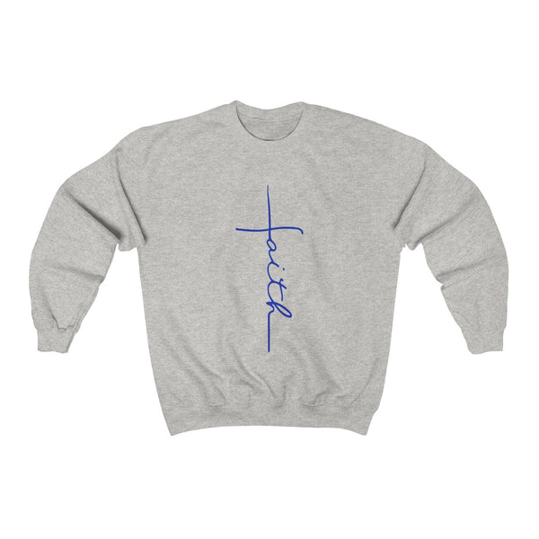 Faith-Blue Sweatshirt
