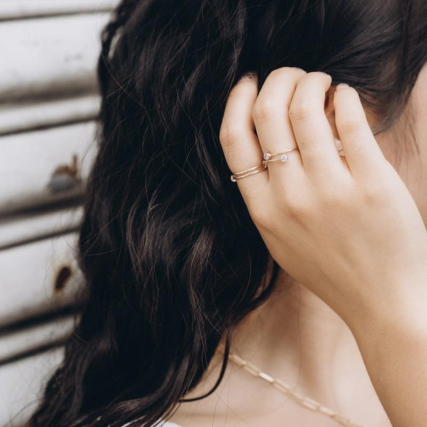 Stacking Gold Wrap Ring