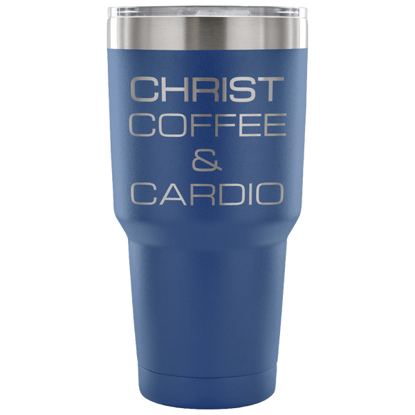 Christ, Coffee & Cardio 30oz Tumbler