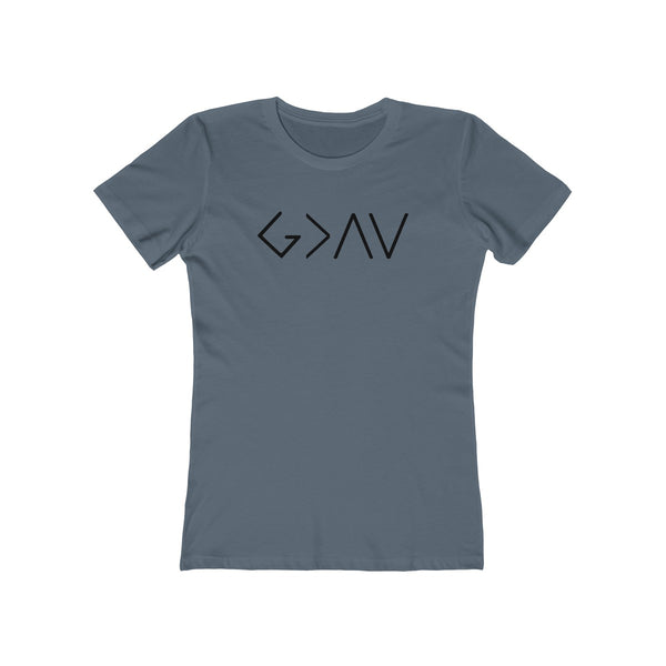 God Greater Than Highs & Lows Ladies T-Shirt