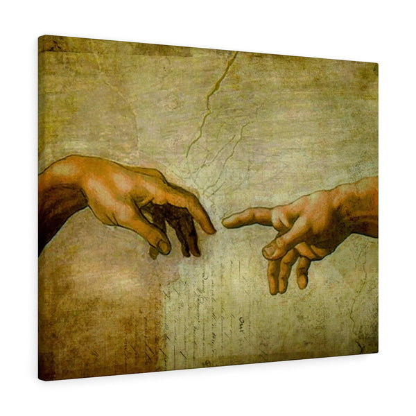 Creation Of Adam - Landscape Wall Canvas