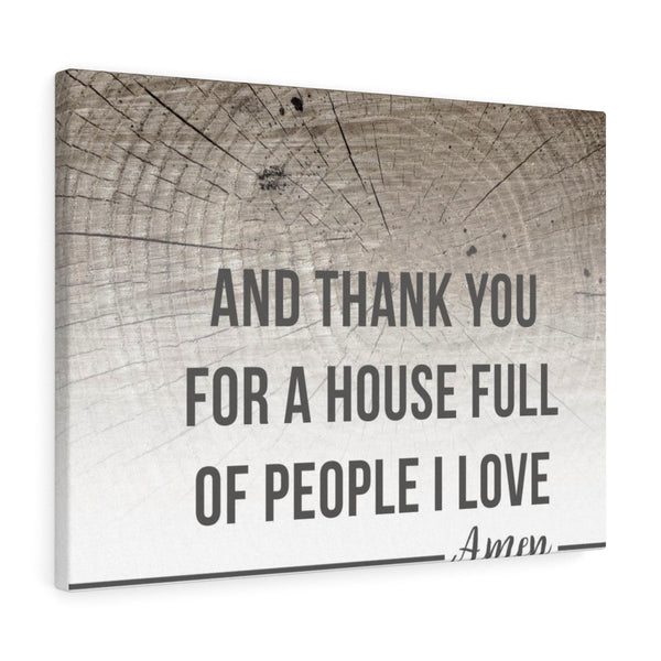 House Full Of People I love - Landscape Wall Canvas