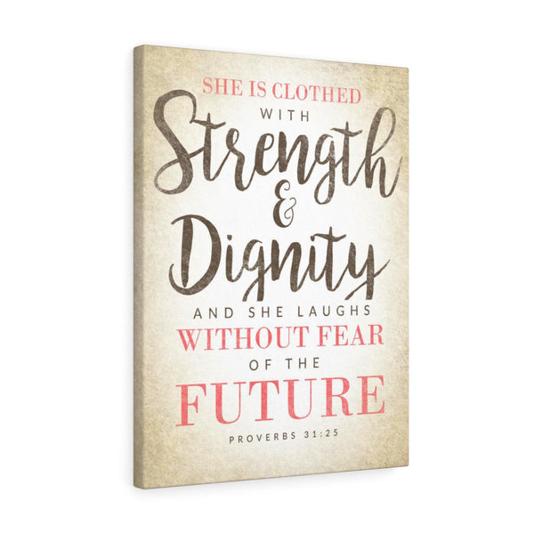 She Is Clothed With Strength And Dignity - Portrait Wall Canvas