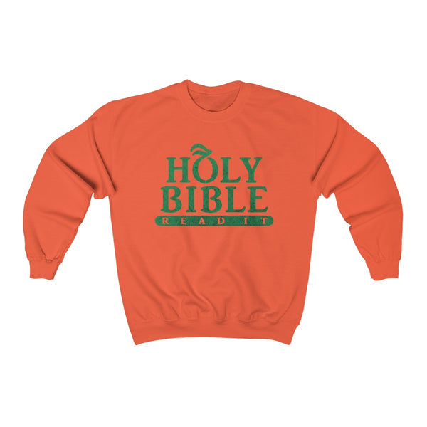 Holy Bible Textured Sweatshirt
