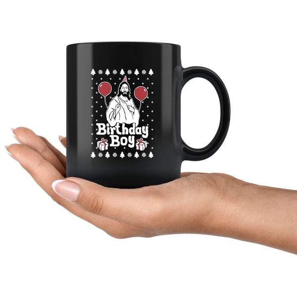 Birthday Boy Jesus - 11oz Black Mug