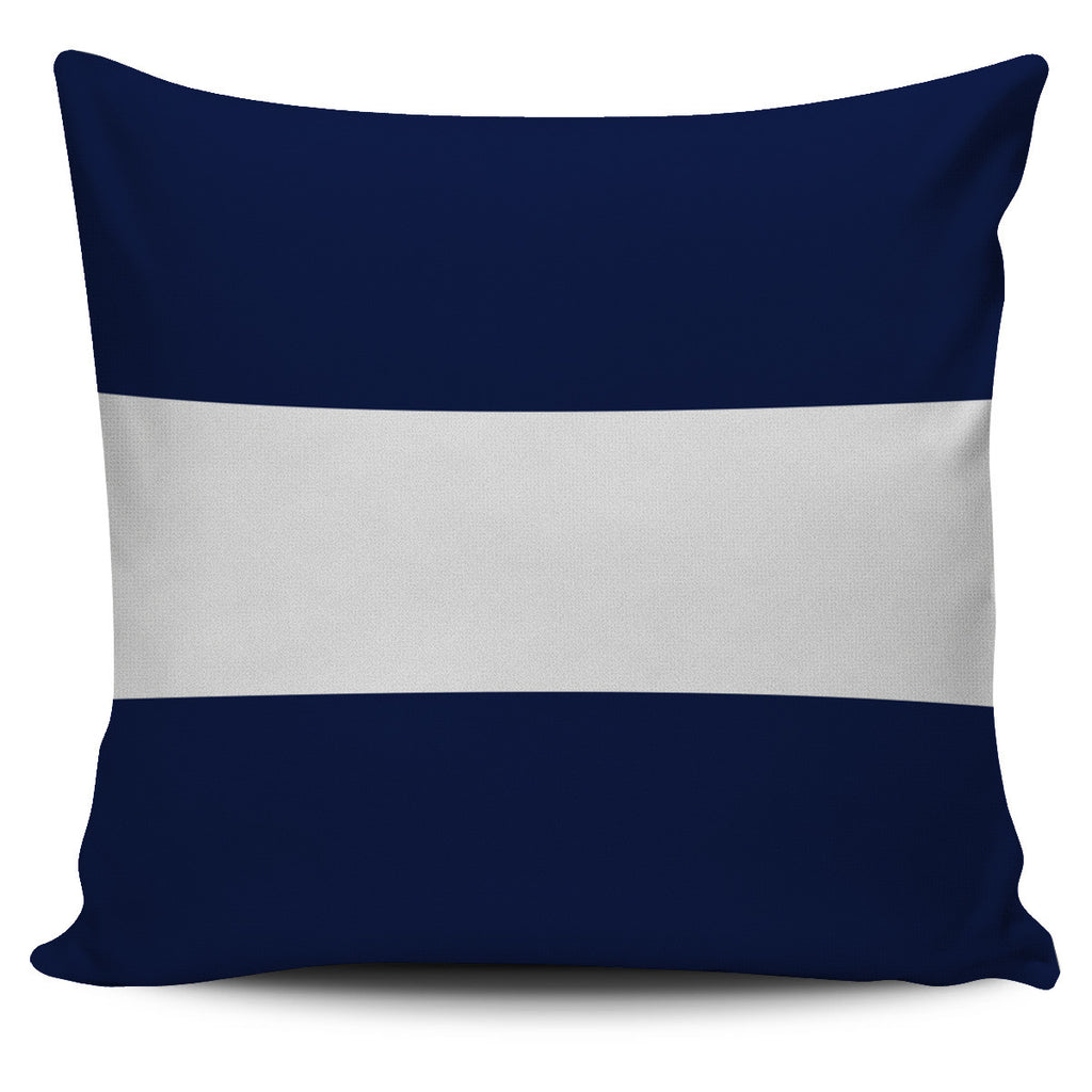 Letter J - Nautical Signal Flag Pillow Cover