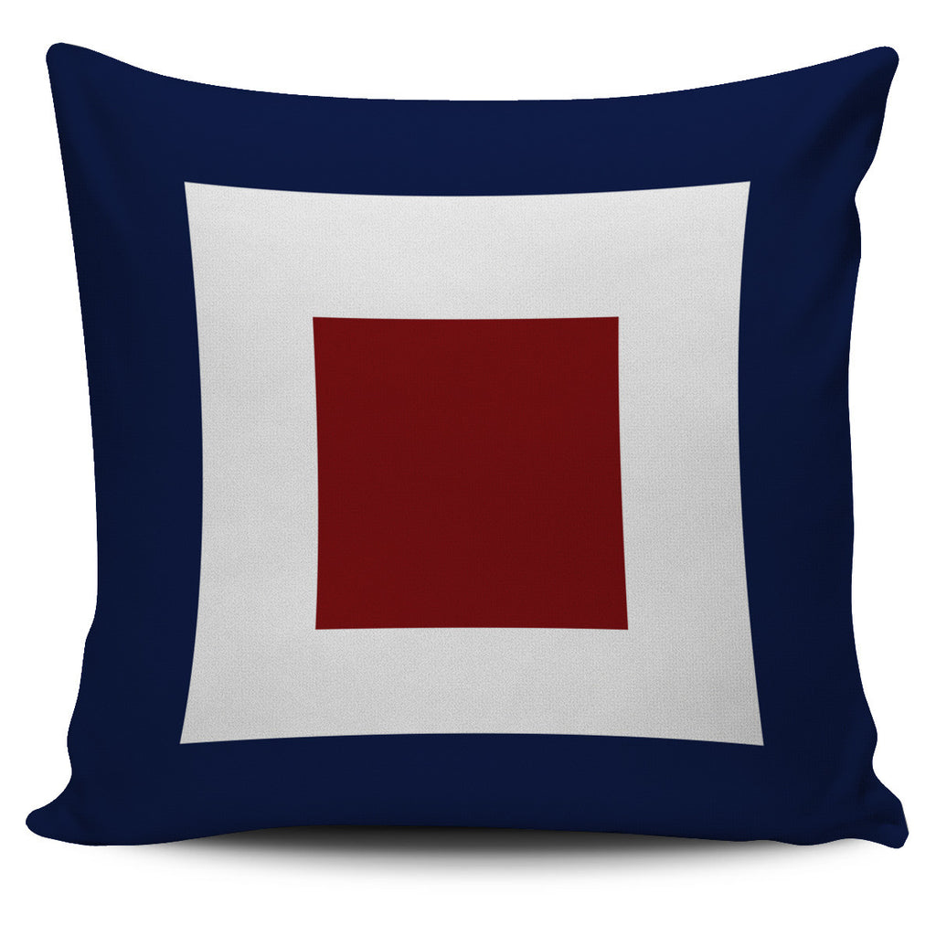 Letter W - Nautical Signal Flag Pillow Cover