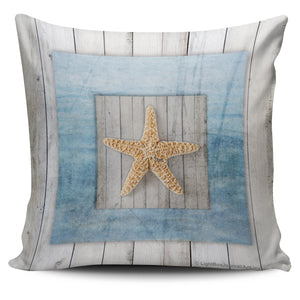 Seashells Framed Wood - Pillow Covers