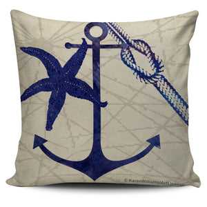 Nautical Designs in Tan - Pillow Covers