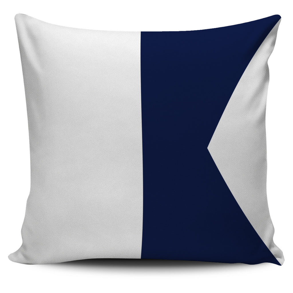Nautical signal flag letter A pillow cover beach home decor