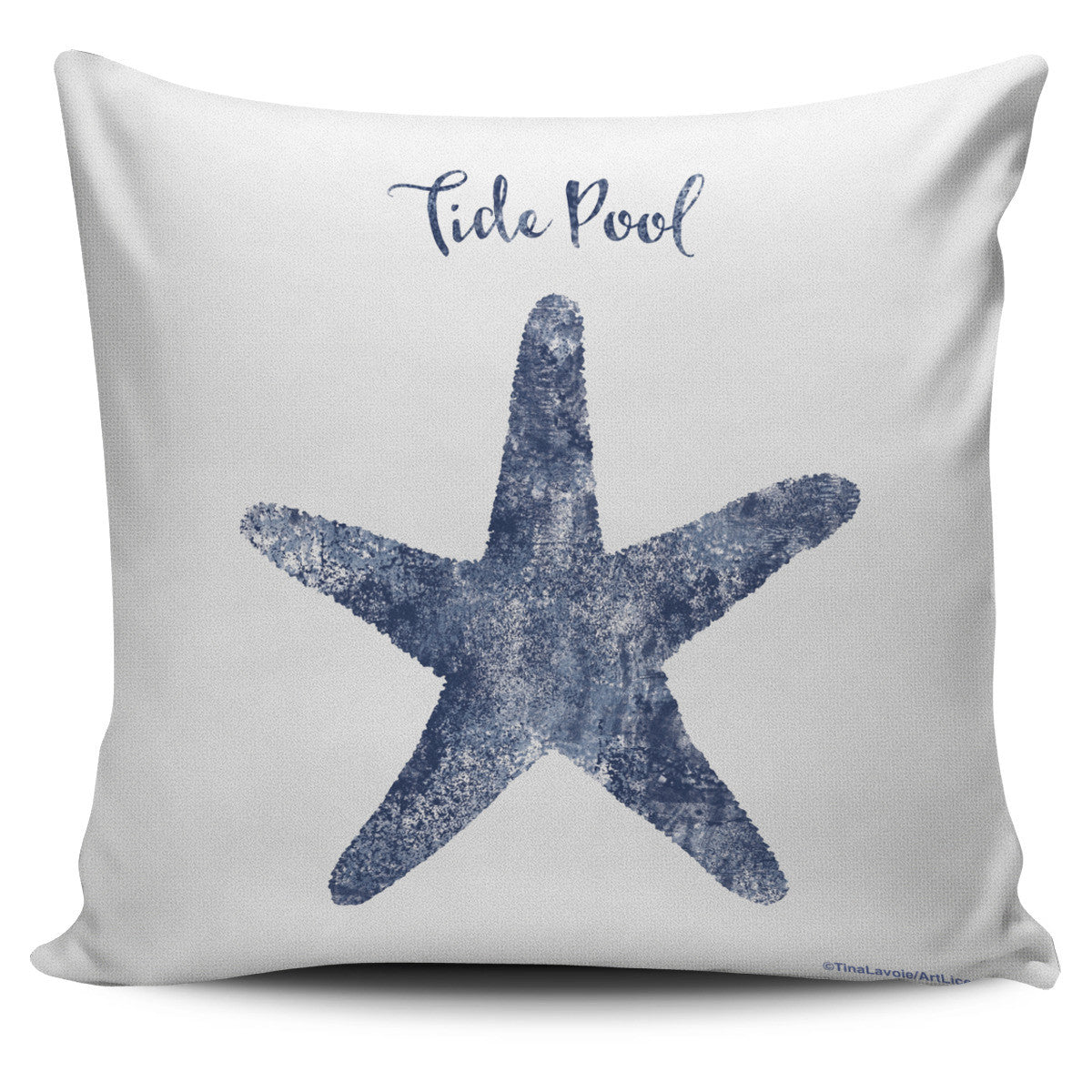 Coral Reef Creatures in Blue - Pillow Covers