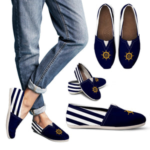 Nautical Casual Shoes Striped for Women
