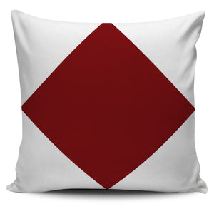Letter F - Nautical Signal Flag Pillow Cover