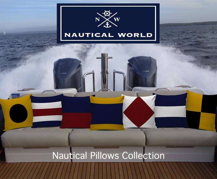 nautical pillows signal flags