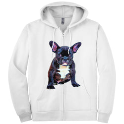 [french bulldog zipped hoodies] - Malika Pet Art