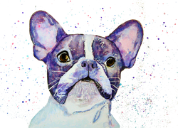 [french bulldog original painting] - Malika Pet Art