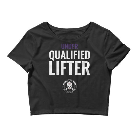 Qualified Lifter Women's Crop Tee