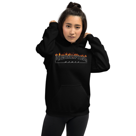 PowerliftingWomen IN FLAMES Unisex Hoodie