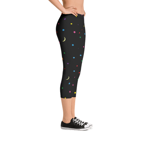 Space Pants Capri Leggings