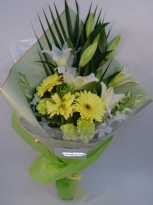 White and Yellow sheaf of flowers