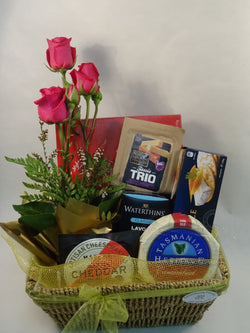 Hamper Cheese Chocolates Flowers