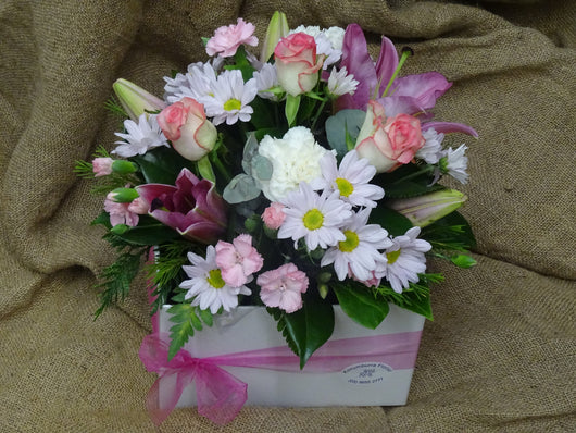 Pastel Floral Arrangement in Large Box