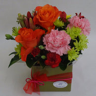 Floral arrangement with roses and carnations - any occasion