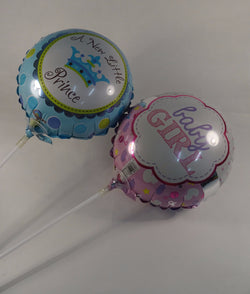 Helium balloons to celebrate a newborn baby