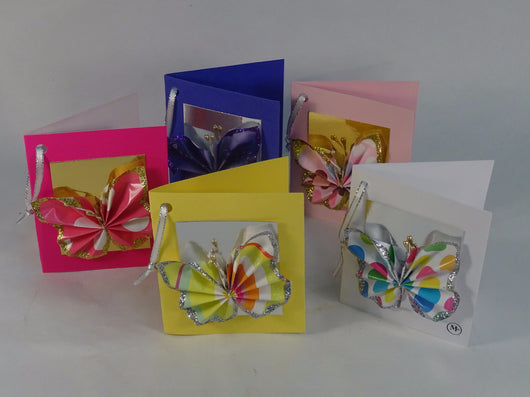 Hand written butterfly message cards