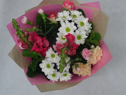 Chrysanthemums, snapdragons and roses flowers.