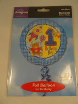 1st Birthday Helium Balloon - Boys