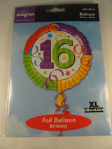16th Birthday Helium Balloon