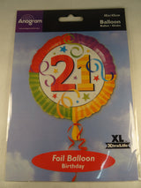 21st Birthday Helium Balloon