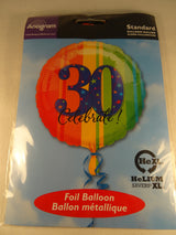 30th Birthday Helium Balloon