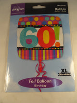 60th Birthday Helium Balloon