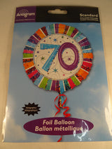 70th Birthday Helium Balloon