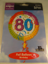 80th Birthday Helium Balloon