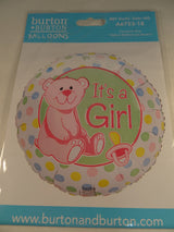 Newborn baby girl helium balloon