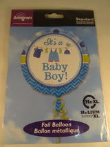 Newborn baby boy helium balloon