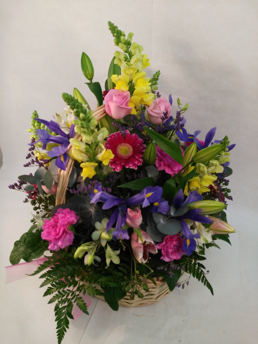 Cottage Basket of mixed blooms