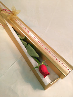 1 Single Red Rose in Presentation Long Box