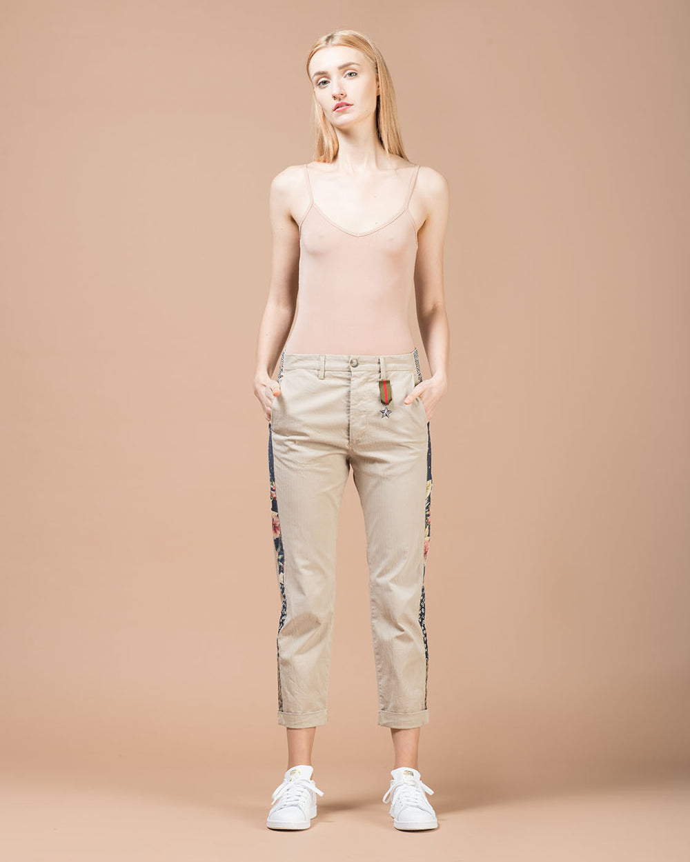 Khaki Straight Leg Pants