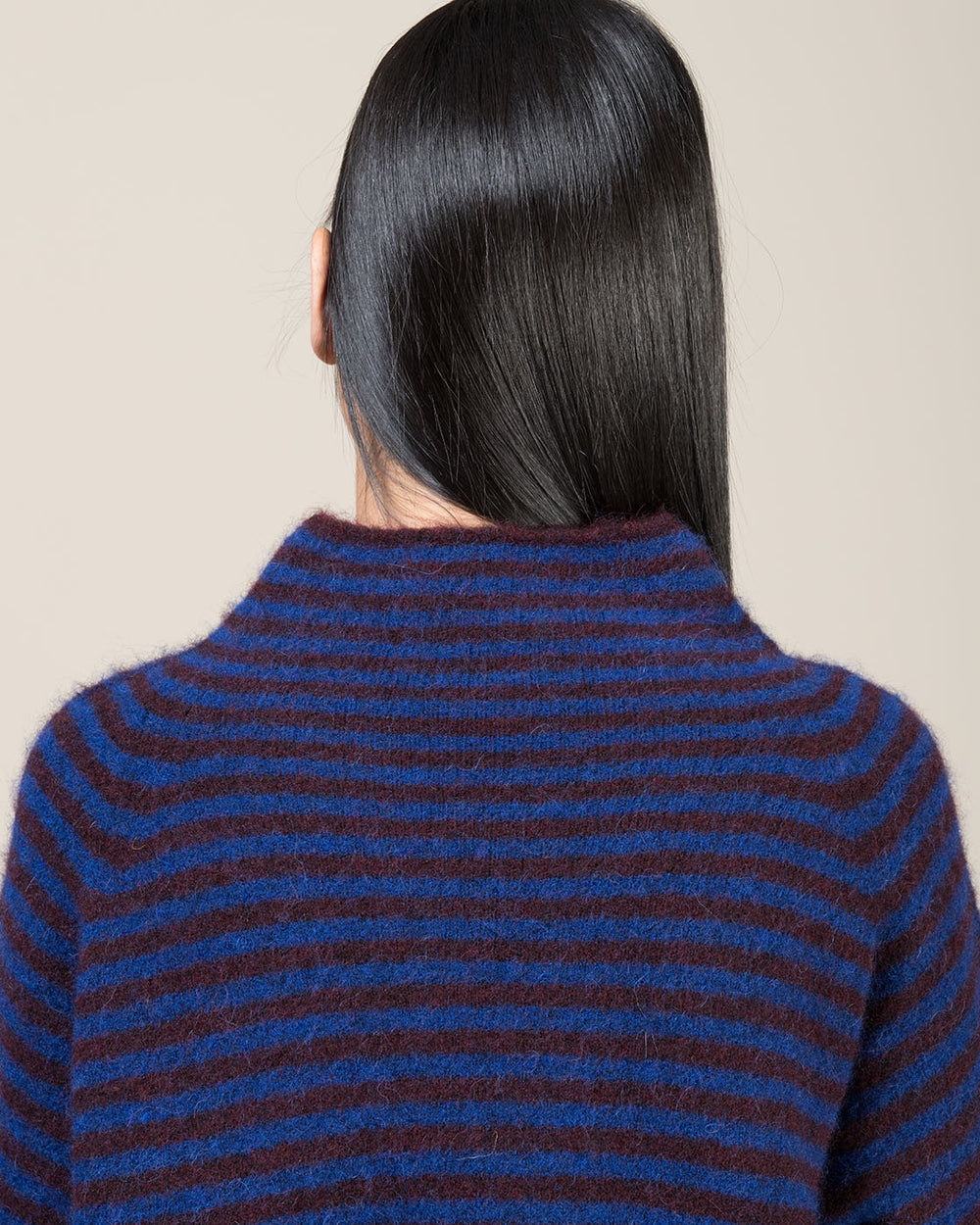 Blue and Plum Striped Sweater