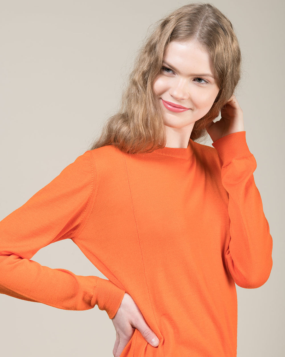 Orange Asymmetrical Sweater